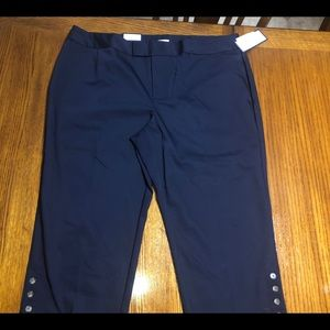 Charter Club Pants - NWT CHARTER CLUB blue Capri with gold accent 22W